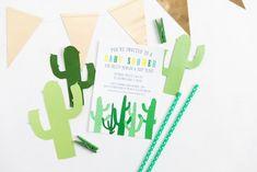 Handmade Mood   Hey, Dude: A Cactus Baby Shower   http://handmademood.com