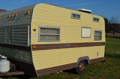 Vintage 1977 Mallard Golden Eye 16ft Travel Trailer Camper in RVs & Campers | eBay Motors