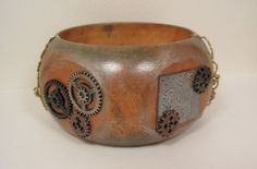 @Annette Witherspoon created this #Steampunk bangle using #Stampendous and @DiyBangles com products.