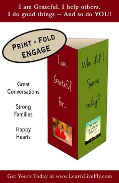 Cute Printable to spark gratitude conversations in your home!  Gotta Have this!   www.learnlivefly.com  #learnlivefly