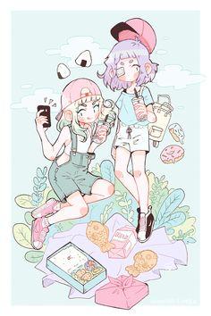 Taiyaki and Milk go on a date ~ ✨