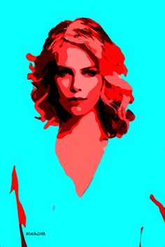 69-POP Art. Charlize Theron III.