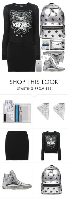 """""""Modern School Girl"""" by hollowpoint-smile ❤ liked on Polyvore featuring Rock 'N Rose, A.L.C., Kenzo, Converse, Yves Saint Laurent and modern"""