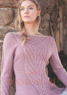 вязаный пуловер с косами «Рапунцель»