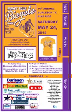 2014 Burleson Honey Tour Bike Ride Memorial Day Weekend Fun