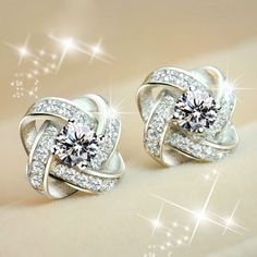 Wow! Bright Twine Clover Inlay Diamond Stylish Silver Banquet Jewelry Earrings only $28.99 from ByGoods.com! I like it so much!!