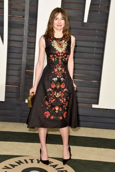 Emily Mortimer. See what all the stars wore to the Academy Awards' biggest after party.
