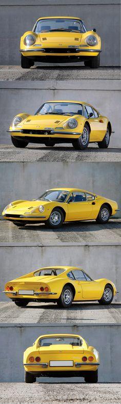 1966 Dino 206 GT / 180hp 2.0l V6 / Ferrari / yellow / Italy / 17-323