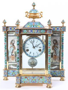 French Cloisonne Clock : Lot 295