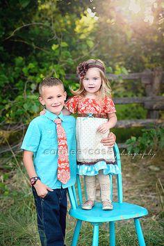 Sibling Set Savannah Peasant Dress and Boy's by mellonmonkeys, $51.00