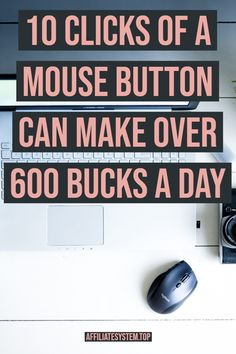 10 clicks of a mouse button can make over 600 bucks a Day - Earn Money Online Earning, Earn Money Online, Online Jobs, Online Careers, Earning Money, Marketing Program, Affiliate Marketing, Importance Of Time Management, Work From Home Jobs