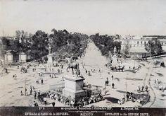 """""""Paseo de la Reforma""""  Fotografía tomada el 1 de diciembre de 1897."""