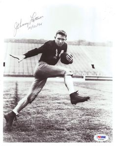 Johnny Lattner Autographed 8x10 Photo Notre Dame PSA/DNA #S35480