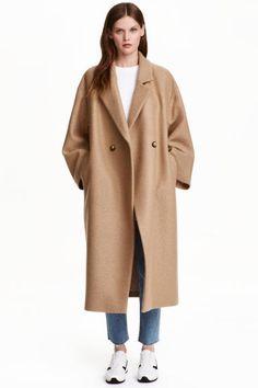 Manteau oversize en laine: QUALITÉ PREMIUM. Manteau à double boutonnage en…