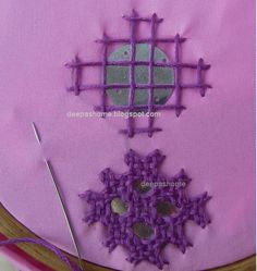This and that...my random thoughts: Fixing Shisha(mirror) with Kutch embroidery