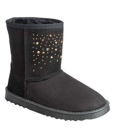Take a look at this Black Rhinestone Coco Boot today!
