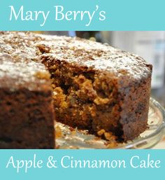 Mary Berry's Apple and Cinnamon Cake Italian Cookie Recipes, Apple Cake Recipes, Baking Recipes, Apple Cakes, Easy Apple Cake, Mary Berry Apple Cake, Berry Cake, Mary Berry Baking Bible, Apple Cinnamon Cake