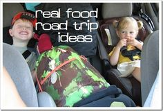 What real food options do you have for a road trip with kids? Tons of healthy travel food ideas for on the go travel!