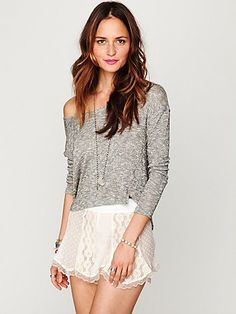 Laced Short-Free People.. I love the whole outfit! $49.95
