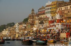 Ghat of Varanasi, Uttar Pradesh, India #Tour #Travel #Holiday #Destinations #Photography