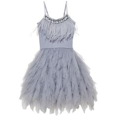 Tutu Du Monde Swan Queen Tutu Dress Storm Cloud ($280) ❤ liked on Polyvore featuring dresses, beading dress, beaded dresses, ballet dresses, ballerina dress and beaded cocktail dress