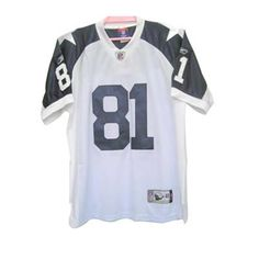 Terrell Owens White Jersey $19.99 This jersey belongs to Terrell Owens, Dallas Cowboys #81  Color: white, Size: M, L, XL, XXL, XXXL  The jersey is made of heavy fabric with nylon diamond weave mesh