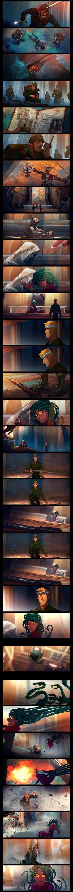 Medusa (Part 3) by JUN CHIU Illustration