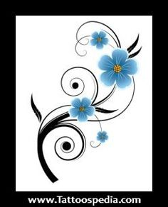 Forget Me Not Flower Tattoos | rib tattoo flowers little tattoo flowers yin yang tattoo with flowers ...