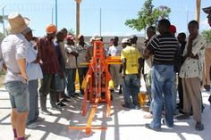 compressed stabilized earth blocks in haiti