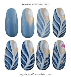Step-by-step peacock nails! Im doing this!!!