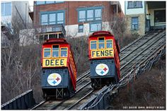 Go Steelers Defense on the Duquesne Incline #pittsburgh