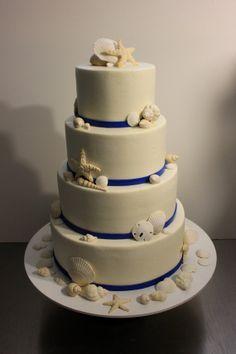 Seashells Wedding Cake Topper Set Of 24