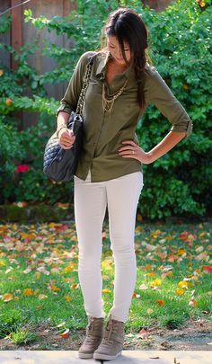 LAMB jacket, Skinny Jeans, Volcom Shirt w/Steve Madden Olympiaa Wedge Sneakers