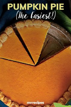 The name says it all! Refrigerated piecrusts and an easy pumpkin filling are the time-saving secrets to this easy pumpkin pie.#thanksgiving #thankgivingrecipes #thanksgivingdesserts