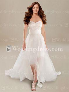 Beach Wedding Dress with High-Low Hemline via Inweddingdress.com #beachweddingdress