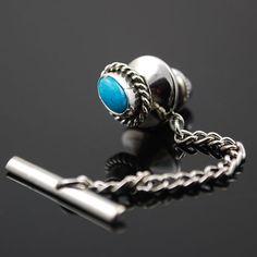 Turquoise Tie Tack  www.silversunalbuquerque.com