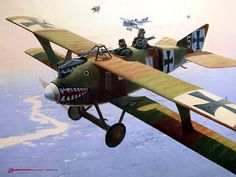 1917 03 Roland CII over the Western Front