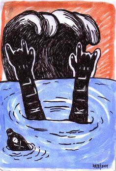 Edward Reza Prima ''kill kill'' drawing pen acrylic on paper @2014