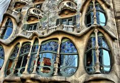 The super-excellent architect Antoni Gaudi designed this building in Barcelona that looks like a melting fairytale. :) http://bit.ly/HZKqcQ