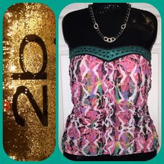 2b Bebe Corset style top This top is amazing. Accentuates your curves. Perfect condition. Zips up the side. 2b bebe Tops