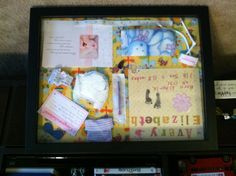 NICU Preemie shadow box for my daughter Avery. She was born at 23 weeks and lived for two weeks. It felt good to focus on her life while working on this. Good project for baby loss moms.