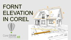 FORNT ELEVATION IN COREL DRAW Autocad, Floor Plans, Draw, Building, House, Home, To Draw, Buildings, Haus