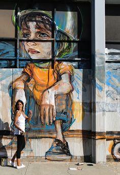 German street art power duo Herakut in Culver City. #streetart jd