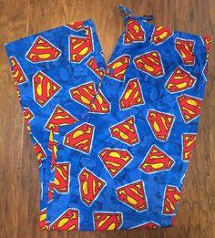 Mens Superman Symbol Logo DC Comics Sleep Lounge Pajama PJ Pants Sz L New | eBay