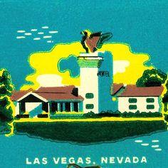 The Thunderbird Hotel matchbook print Gambling Las Vegas