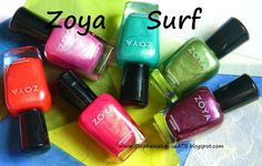 Zoya Nail Polish Summer 2012- Surf Swatches...all of these are FOILS!