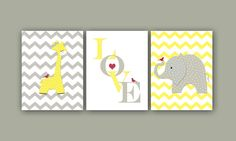 Kids Wall Art Print Baby Room Decor Chevron by Fineartreflections