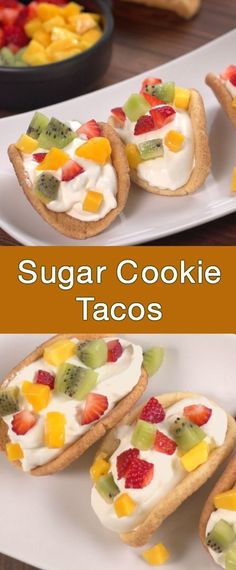 How To Make Sugar Cookie Tacos Sugar cookie tacos. Related posts: Garnelen-Tacos mit Mango-Salsa Würzige Koriander-Limetten-Garnelen-Tacos Best Cod Fish Tacos with Mango Salsa Roasted Vegetable Breakfast Tacos Dessert Party, Party Buffet, Taco Dessert, Party Ideas, Köstliche Desserts, Dessert Recipes, Plated Desserts, Mexican Food Recipes, Recipes