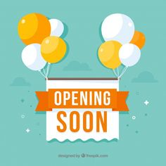 Opening soon background in flat style Free Vector Social Media Poster, Social Media Design, Event Poster Design, Graphic Design Posters, Banner Design Inspiration, Ad Design, School Design, Vector Free, Flat Style