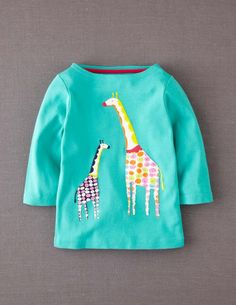 Mini Boden Kaleidoscope Appliqué T-shirt $28